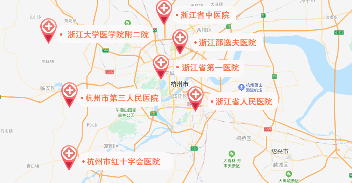 浙江试管婴儿医院地图